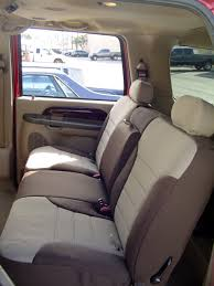 ford excursion standard color seat covers rear seats mid