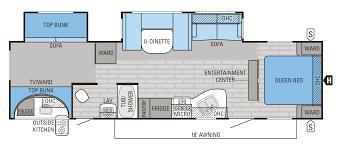 travel trailer floor plans. 32BHDS Travel Trailer Floor Plans 1