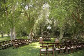 outdoor wedding ceremony with chandelier
