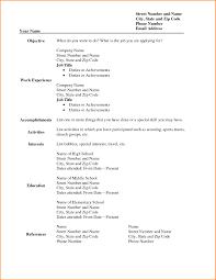 Resume Templates Printable Tjfs Journal Org
