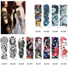 большие татуировки на руку водонепроницаемые временные татуировки