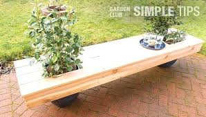 bench with planter garden bench timber planter bench seat