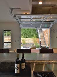 Innovation Glass Garage Doors Kitchen A Glasspaneled Door Virtually Eliminates The Division On Decorating Ideas