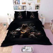 guitar bedding set lovely panda bedding set black duvet cover cartoon guitar for children kids