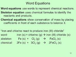 12 word equations