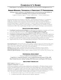 Resume It Professional It Resume Examples It Resume Examples Resume ...