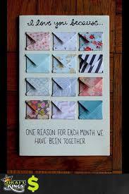 diy anniversary gifts for him unique e reason for each month year family of diy