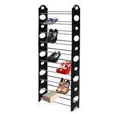 Shoe Rack Fine Living 10 Tier Shoe Rack Black 1000754 Buy Online In