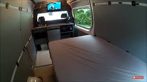 mercedes sprinter bed diy custom rv conversion