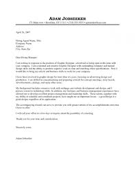 Graphic Design Cover Letter Sample Resume Badak Within Cover