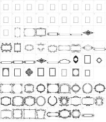 vintage frame design png. Font Characters. Characters: Vintage Frames Frame Design Png