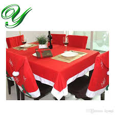 tablecloths chair cover set decoration red table cloth square flannel 184 128cm dining table covers banquet holiday xmas ornament