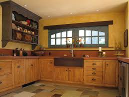 Yellow Wood Kitchen Cabinets With French Country Style Designs
