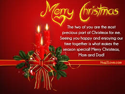 merry christmas quotes for mom and dad