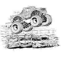 45 Monster Truck Coloring Pages Transportation printable coloring ...