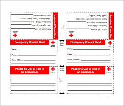 emergency contact template emergency contact card template larealco emergency contact card