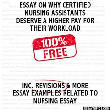 on why certified nursing assistants deserve a higher pay for their  essay on why certified nursing assistants deserve a higher pay for their workload