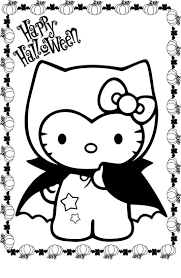 Hello Kitty Coloring Sheets Halloween