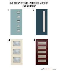 mid century modern front door. Contemporary Mid Modern Front Door Options  WithHEART Throughout Mid Century I