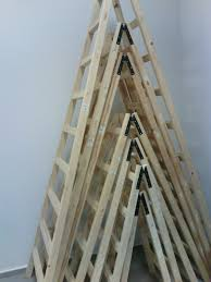 two sided wooden step ladder