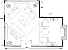 christopher lowell furniture placement l-shaped space - Google Search
