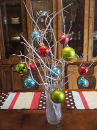 creative homemade christmas decorations. Creative Decorating Ideas For Christmas Centerpieces Designed By White Wooden Branches With Colorful Balls On Homemade Decorations R