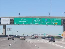 state highway junction route ca 22 westbound garden grove freeway long beach left three lanes