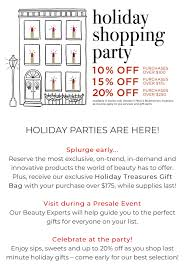 Holiday Shopping Party Bluemercury Downtown Naperville
