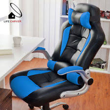 Office reclining chair Amazon Recliner Computer Chair Office Gaming Sports Racing Home Adjustable Colors New Office Chair Reclining Computer Chair Ebay