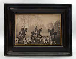original victorian photograph of huntsmen on horseback