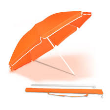 beach umbrella. Interesting Umbrella The Orange Hawaii Beach Umbrella Is Made From 190T PolyesterThe  Features A Manual On