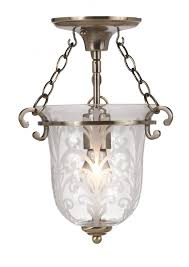 1 light brass glass pendant ii