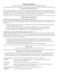 Technical Support Analyst Resume Example cv for technical support Savebtsaco 1