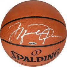 jordan basketball. michael jordan chicago bulls autographed official spalding basketball