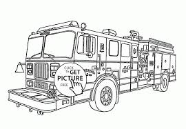Small Picture Coloring Pages Fire Engine Coloring Page For Kids Transportation