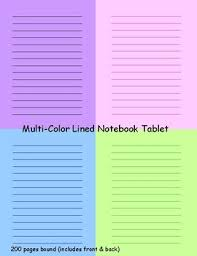 Multi Color Pages Notebook Tablet By Education Design Store Tpt