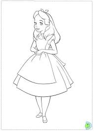 Small Picture Alice in wonderland Coloring page DinoKidsorg