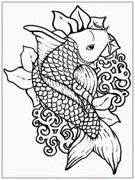 Adult Free Fish Coloring Pages Realistic