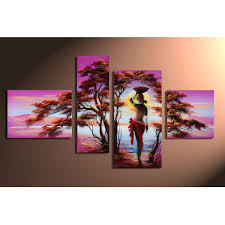 beautiful paintings oil paintings african oil paint art pale purple and fine trees is stunning work