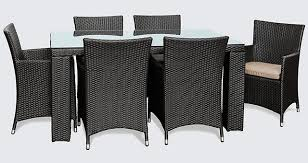 black outdoor furniture. outdoor furniture sale glass beige u0026 black rattan 6 seater dining table chairs o