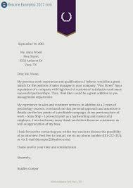 Best Cover Letter Examples 2017 Benjaminimages Com