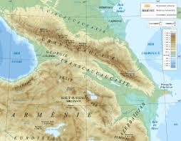 Кавказ Википедия caucasus mountain range map fr svg