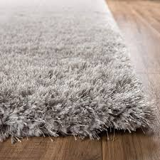 thick soft area rugs best of shimmer silver grey solid modern er ultra thick