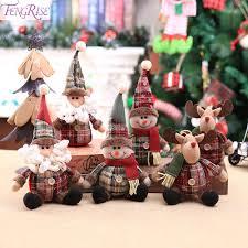 Santa Claus <b>Christmas</b> Ornaments Tree Decor Elk Snowman Plush ...