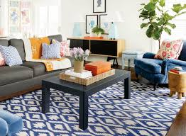 navy blue rug living room. room · grey couch with navy graphic rug, blue rug living s