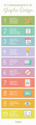 Ten Commandments Of Web Design Infographic 10 Commandments Of Graphic Design Creative