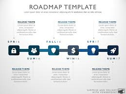 Road Map Powerpoint Six Phase Product Development Timeline Roadmap Powerpoint Diagram