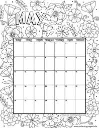May Coloring Calendar Coloring Pages Printable