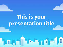 powerpoint them free powerpoint template google slides theme with a city skyline