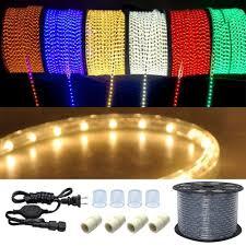 Solar Led Garden Lights Ebay 50 100 150 Ft 110v Led Light Rope String Outdoor Tree Party Garden Lighting